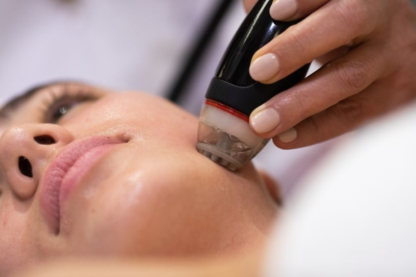 Hydradermabrasion treatment with DermaClear